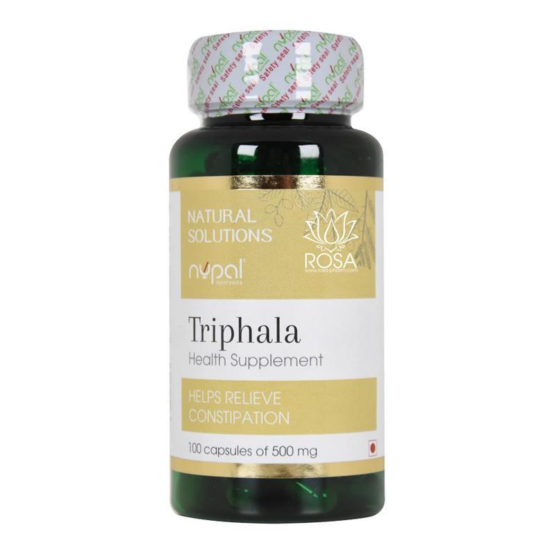 Трифала (Triphala Capsules, Nupal) - Энторосорбент, очищает кишечник, улучшает пищеваниение.