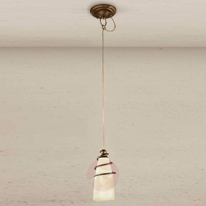 Slim brass hanging light Daniele - Pendant Lighting