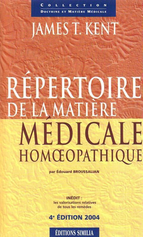 Répertoire de matière médicale homéopathique - Homéopathie - librairie