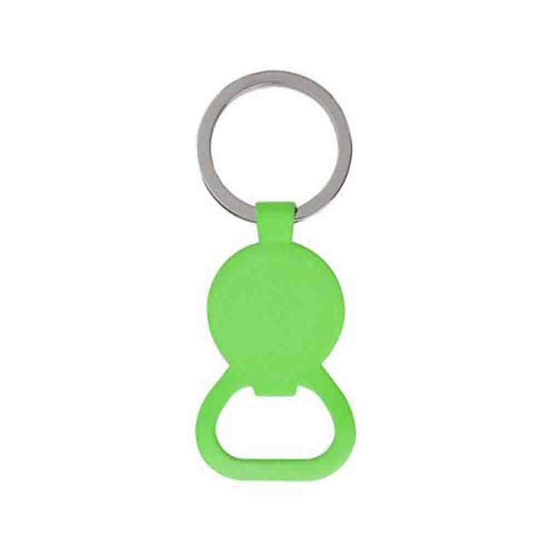 Porte-clés jeton décapsuleur métal brillant - Porte-clés métal