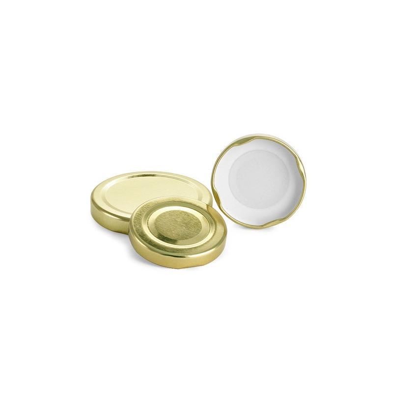 100 caps TO 82 mm Gold color for pasteurization - PASTEURISABLES