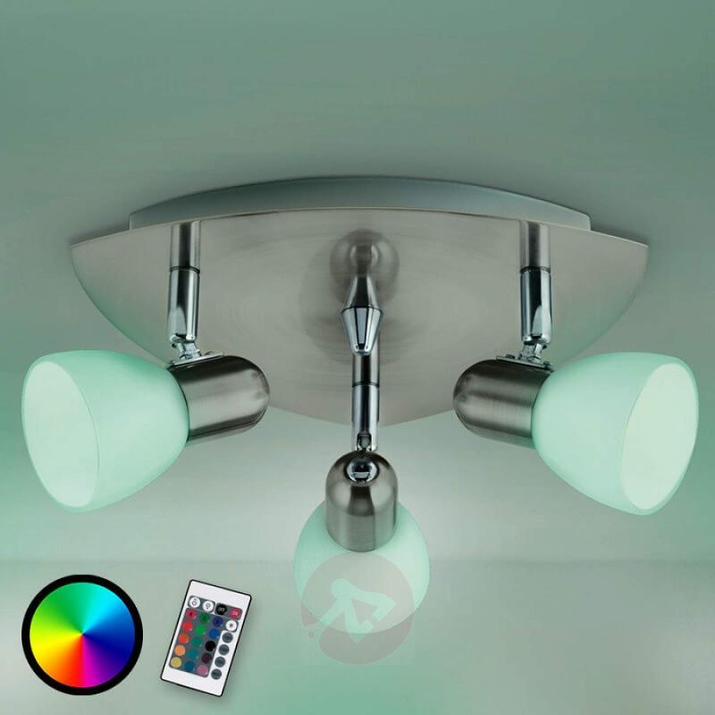 Three-bulb Enea-C ceiling light LED RGBW - indoor-lighting