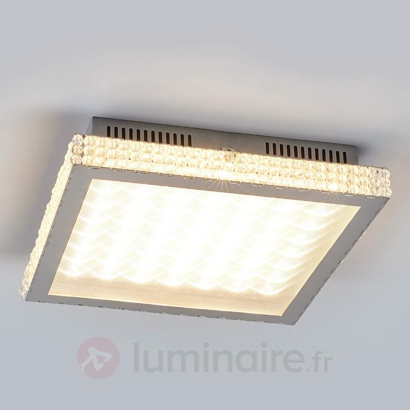 Marlit - plafonnier LED avec cristaux de verre - Plafonniers LED