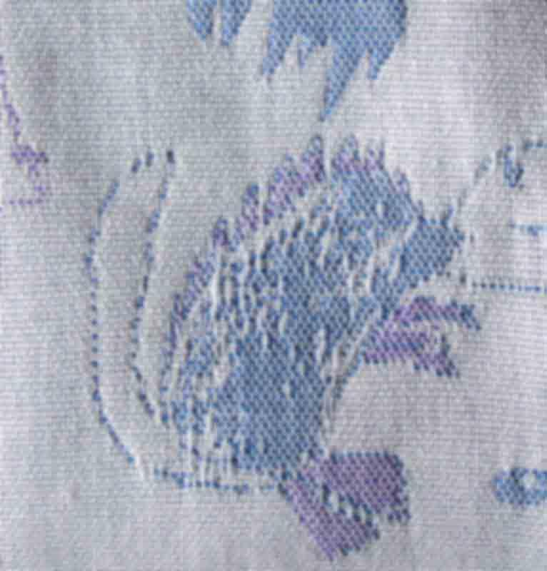 """Jacquard Throw double-sided """"I'LL DRAW YOUR PORTRAIT..."""" - jacquard throw"""