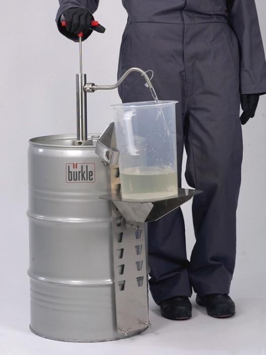 Soporte de barril para depositar recipientes - Porta bidones para bidones de 60 a 220 l