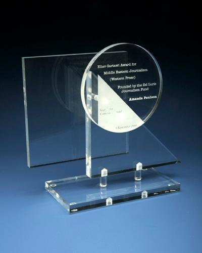 Trophées & tombstones en Plexiglas  - Trophée type: award spec 2