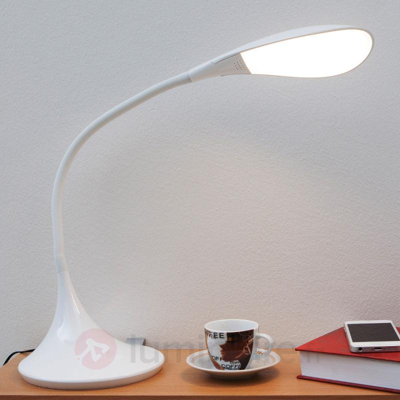 Lampe de bureau LED Josia à int variable en blanc - Lampes de bureau LED