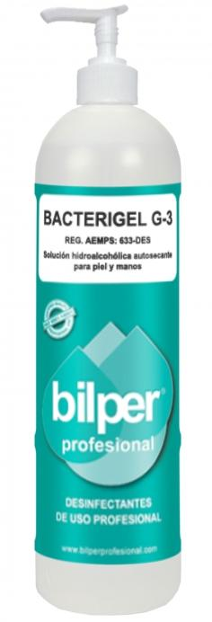 BACTERIGEL G-3 - Self-drying hydroalcoholic solution for skin and hands