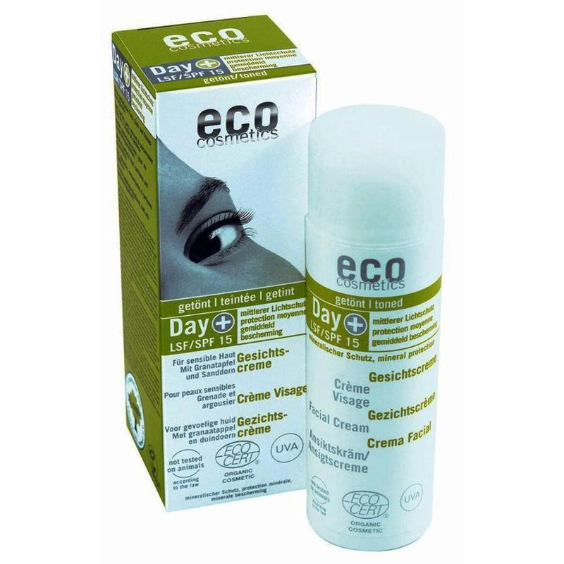 ECO Gesichtscreme 50ml - LSF 15 getönt mit Granatapfel... - null