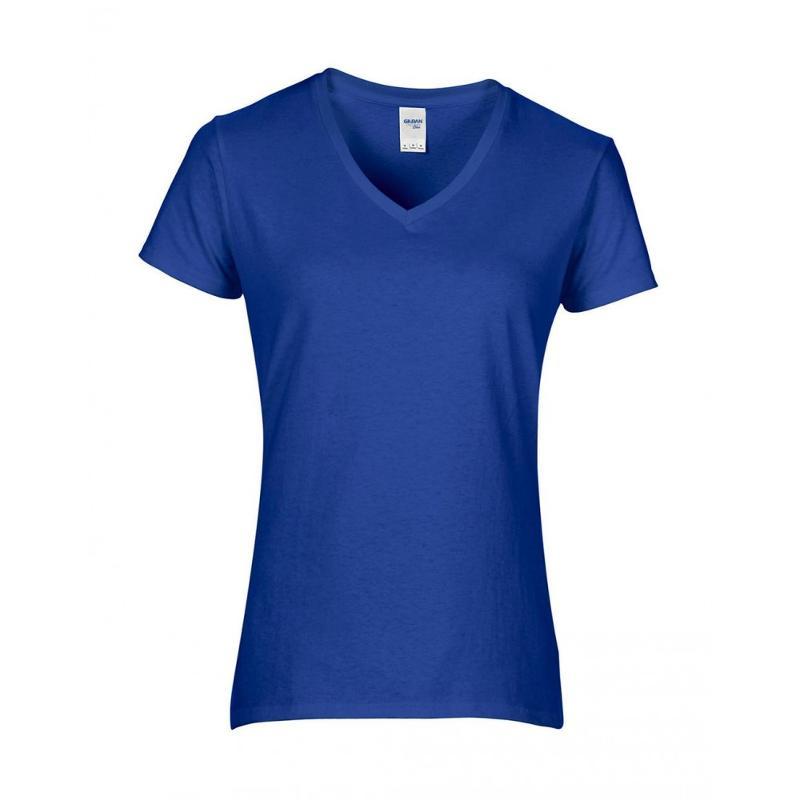 Tee-shirt femme col V Premium - Manches courtes