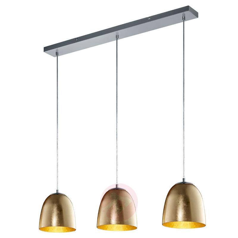 Ontario 3-bulb pendant light made of glass - Pendant Lighting