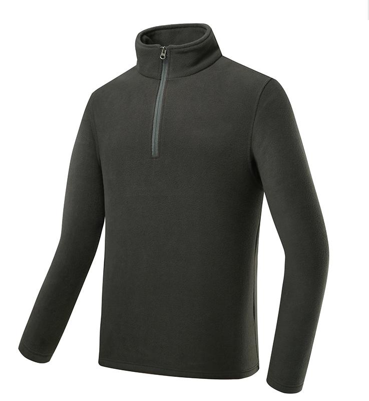 Polar fleece half zipper jacket - jacket with metal zipper