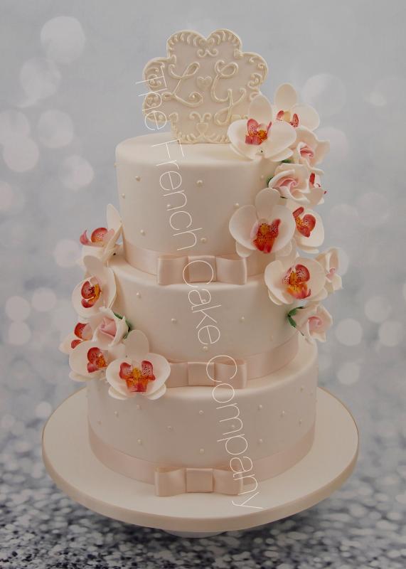 Gâteaux et Pièces Montées sur-mesure - Pièce montée mariage orchidées