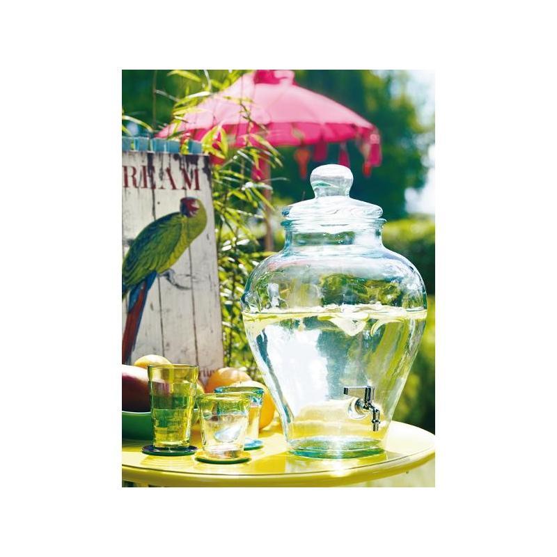 Big Bottle, glass beverage dispenser 12 L.  - Amphora with spout