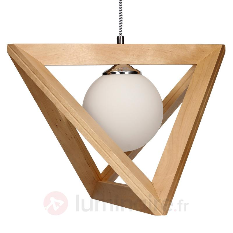 Suspension Trigonon bouleau - Suspensions en bois