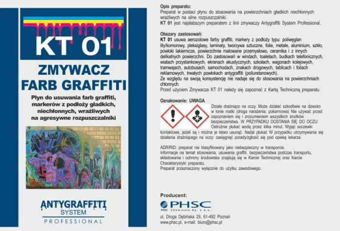 KT 01 - Zmywacz farb graffiti -