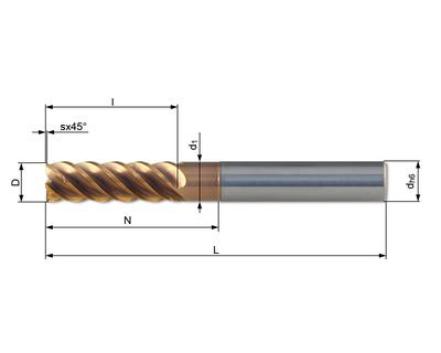 Vollhartmetallfräser VHC 526W-06 Ti08 - null