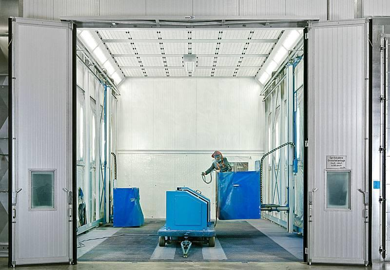 Spray booth type RTS with dry separation - wet-painting