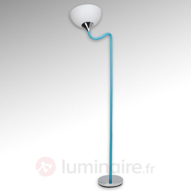 Tête de lampe flexible - lampadaire bleu Lucie - Lampadaires à éclairage indirect