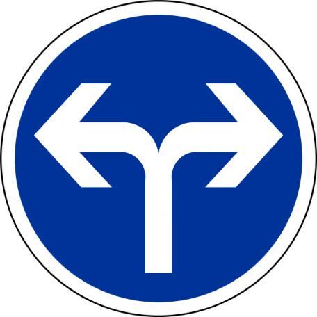 Panneau B 21e Direction Obligatoire - Balisage De Chantier Et Panneaux Routiers