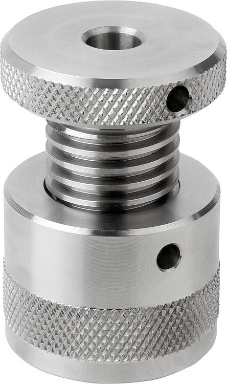 Screw rest with flat face, stainless steel - Support elements