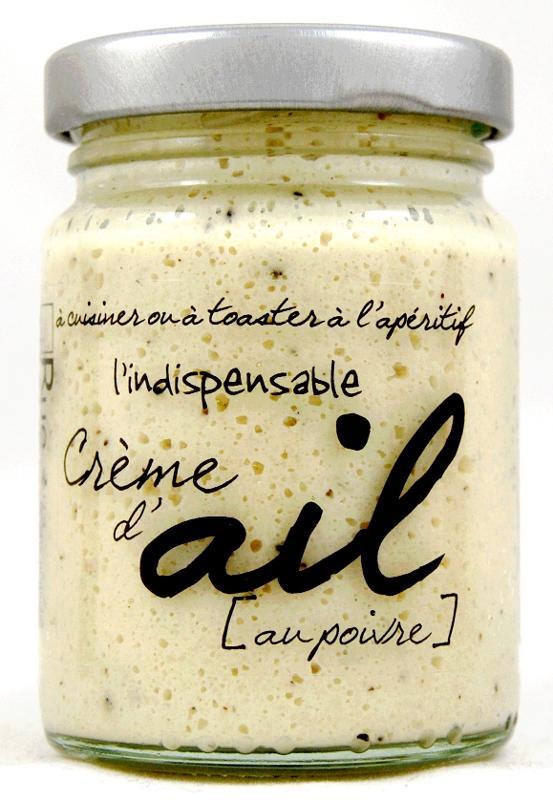 Indispensable crème d'ail au poivre 95g - Epicerie salée