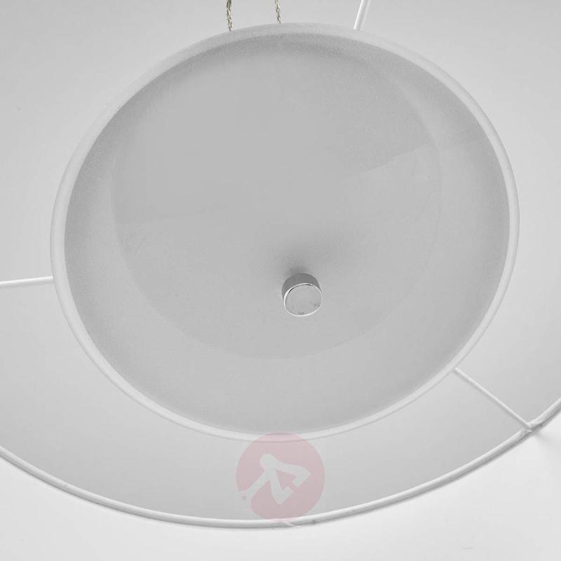 Wanja - white fabric LED hanging light - Pendant Lighting