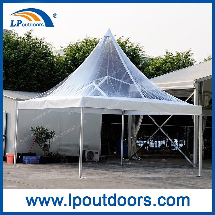 Cort de pagodă de vârf înalt de 5x5m - Cort de petrecere de 5m din fabrica LP OUTDOORS