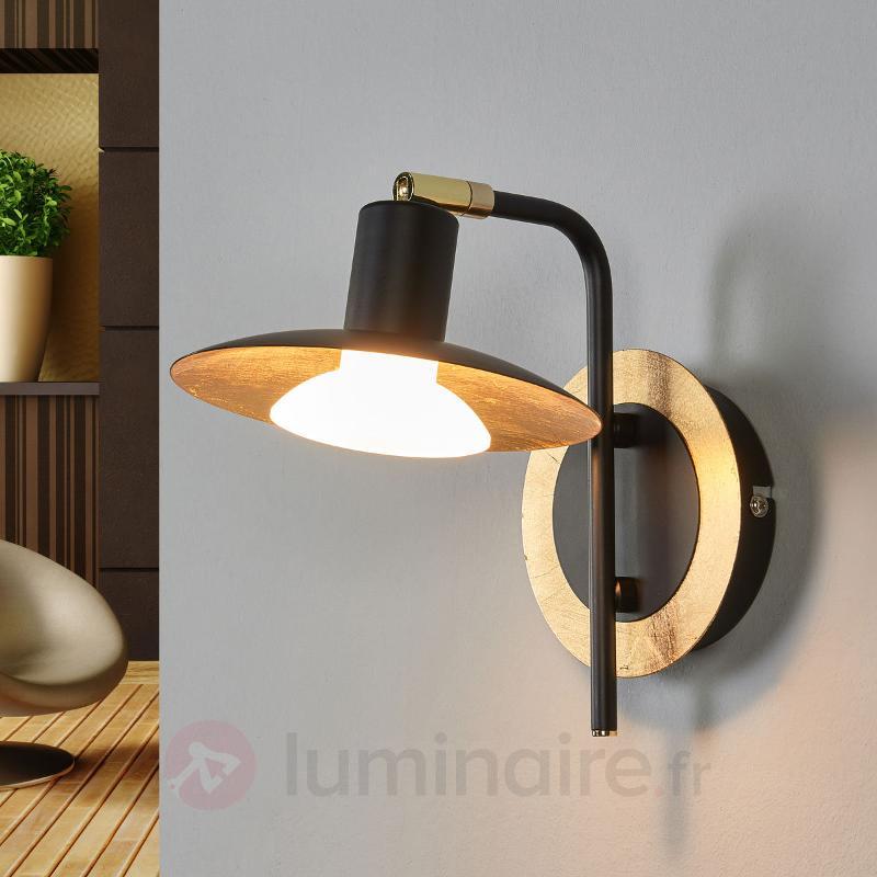 Applique LED noire-dorée Andrej - Appliques LED