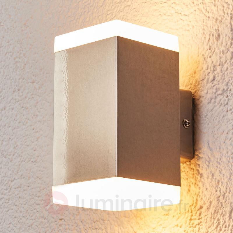 Hedda - applique moderne pour l'extérieur LED inox - Appliques d'extérieur LED