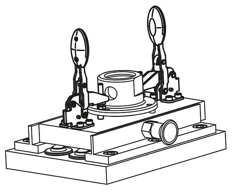 Flexibles Normteilesystem - Schnellspanner horizontal mit Sicherheitsverriegelung mit...