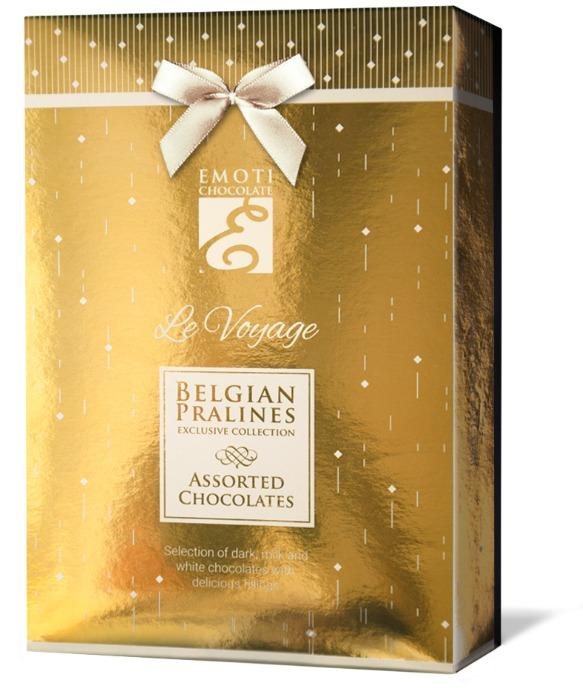 EMOTI Assorted Chocolates, GOLD 120g (bow decorated). SKU: 0 -