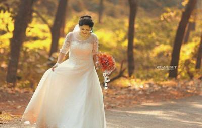 Robe de mariée - Robe de mariée à manches longues style princesse