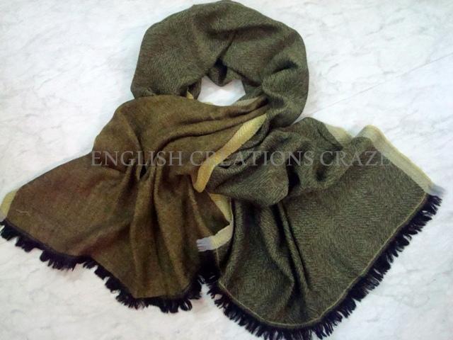 Silk wool Uni Color scarves