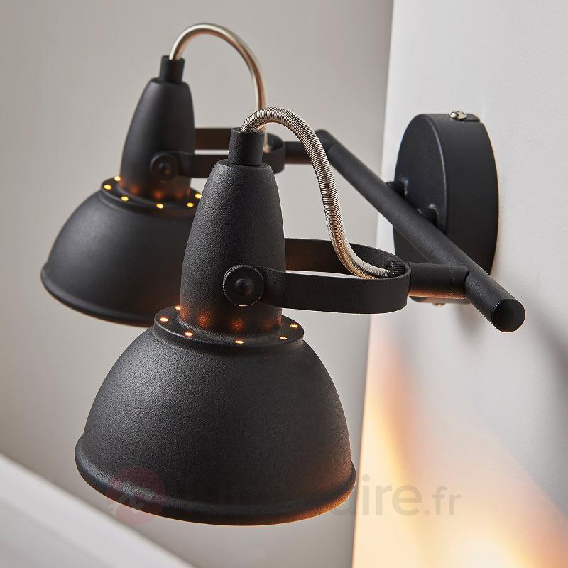 Plafonnier à deux lampes Julin, noir doré - Tous les spots et projecteurs