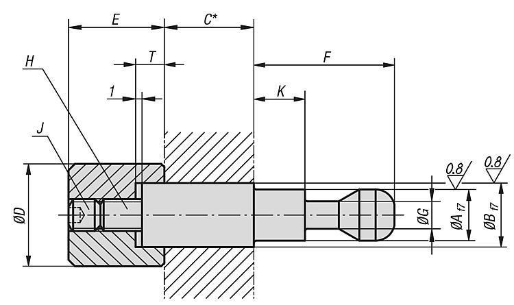Broche de serrage modèle lourd - Crampons, mors de serrage, vis et écrous de serrage