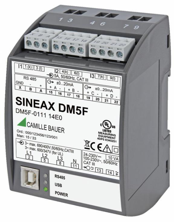SINEAX DM5S/F - Transmetteur avec une grande précision.