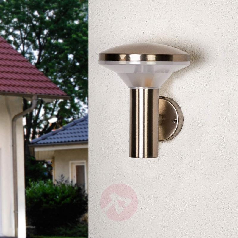 Stainless steel outdoor wall light Jiyan with LED - stainless-steel-outdoor-wall-lights
