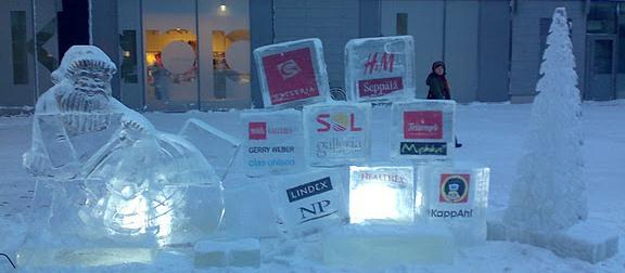 Zaloguj się w lodzie - lodowe logo - null