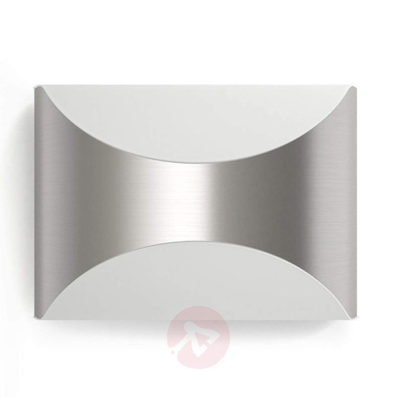 Aesthetic LED wall light Herr, stainless steel - outdoor-led-lights