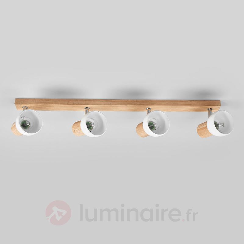 Plafonnier fonctionnel Svenda, 4 lampes - Plafonniers en bois