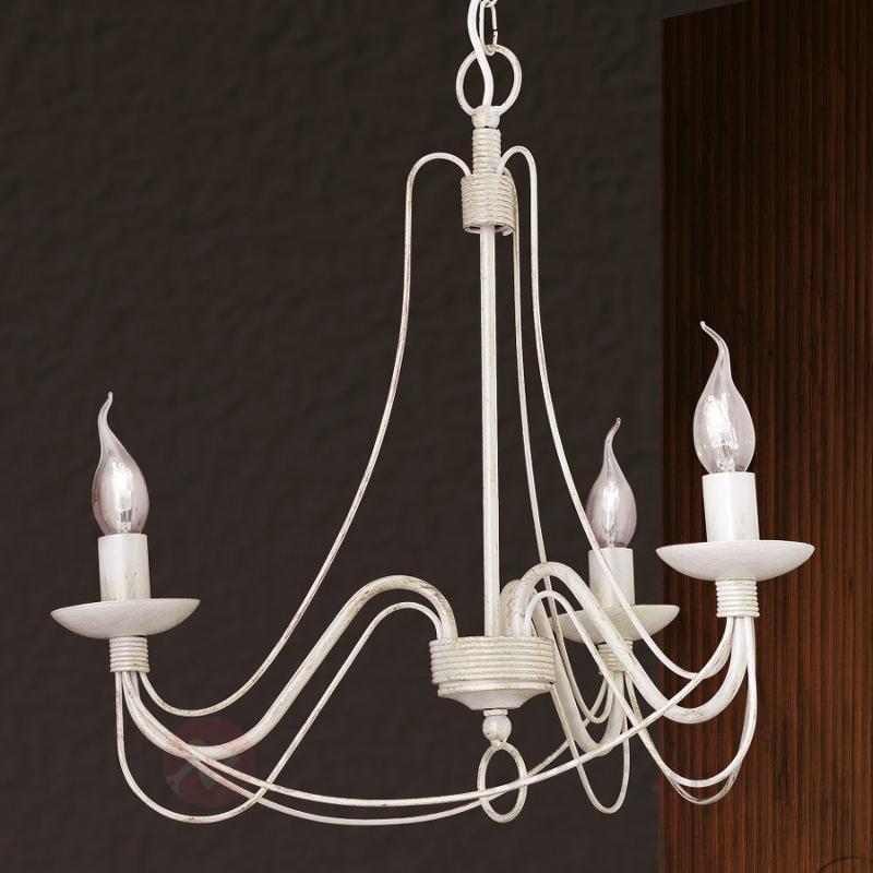 Lustre délicat Antonina à 3 lampes - Lustres rustiques