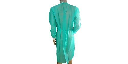 Зеленое хирургическое платье -