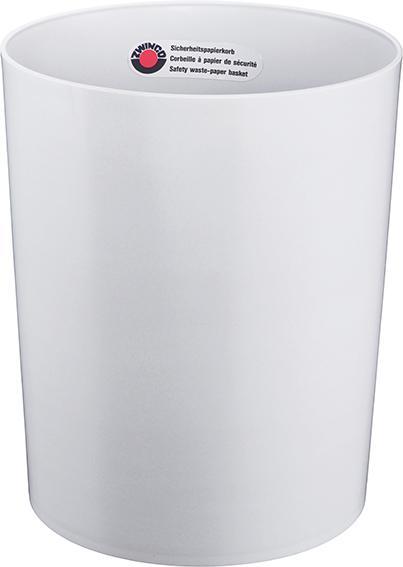 Z12512 - Sicherheitspapierkorb 24L, TÜV-zertifiziert - lichtgrau