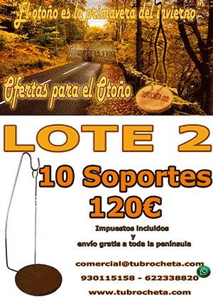 LOTE O-2 - SOPORTES DE BROCHETA