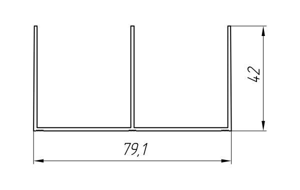 Aluminum Profile For Wardrobes Ат-1006 - Aluminum profile for wardrobes