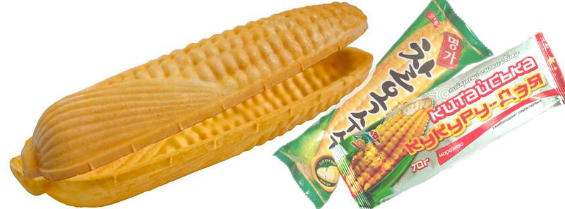 Corn-shaped Waffle Sandwich - Corn-shaped Waffle Sandwich Cone
