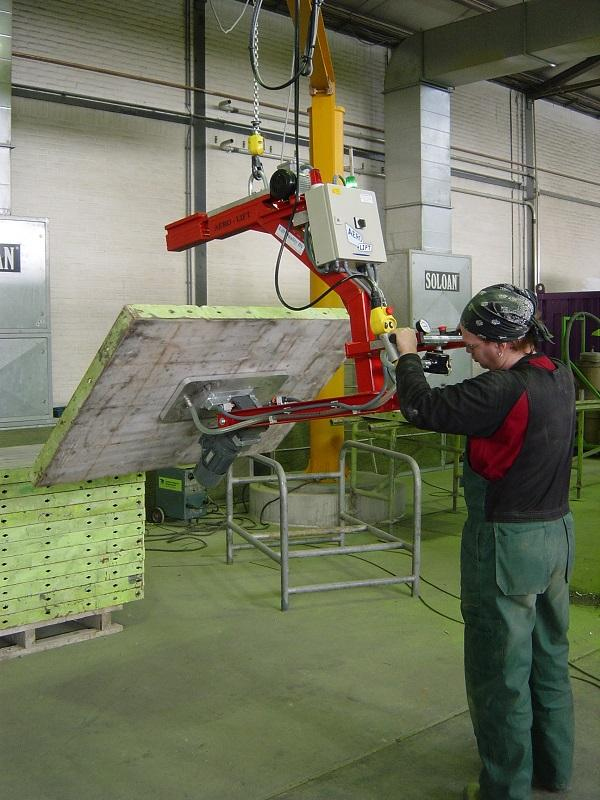 Vacuum lifter turning 180° - null