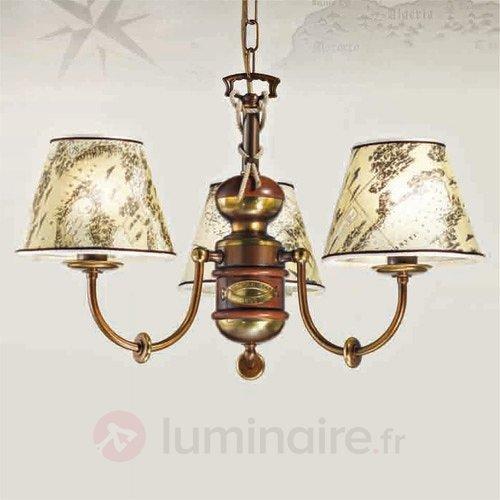Lustre imposant Nautica 3 lampes - Lustres classiques,antiques