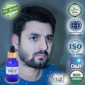 Ancient healer Beard growth Hair oil 500 ml - 100 % Natural Beard oil ,Mooch & Beard growth Hair oil